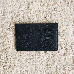 Tiffany & Co Black Leather Card Holder